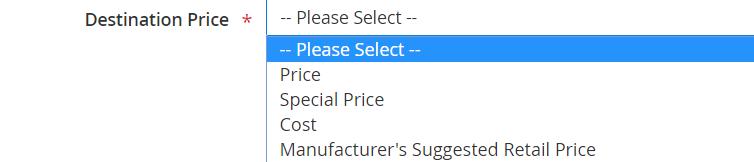 Destinatination price