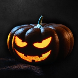 pumpkin with eyes