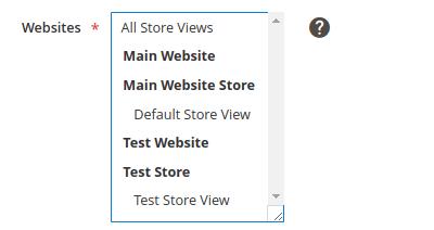 Websites list box