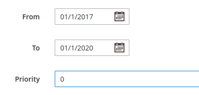 Example, Date and Time picker and Priority